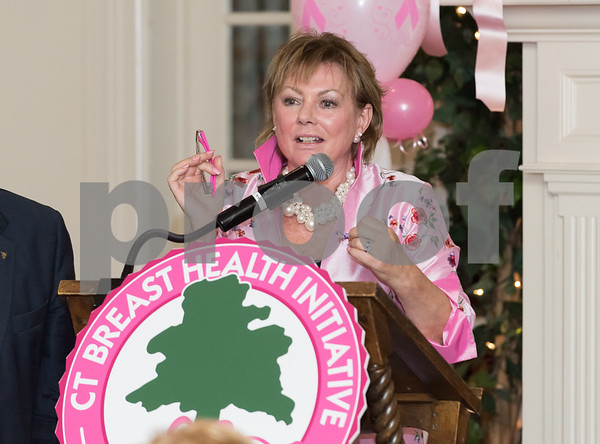10/12/17 Wesley Bunnell | Staff The CT Breast Health Initiative, Inc. presented research and education awards, recognition of sponsors and volunteers of distinction on Thursday evening at Shuttle Meadow Country Club. President of the CT Breast Health Initiative Joyce G. Bray.