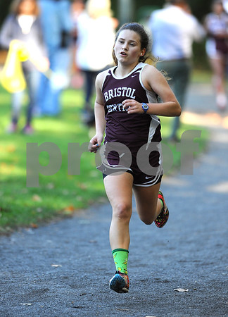 10/12/2017 Mike Orazzi | Staff Bristol Centrals Alexandra Sirko during the city cross country meet Thursday afternoon in Rockwell Park.