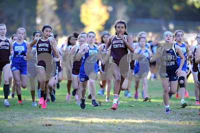 10/12/2017 Mike Orazzi | Staff The start of the girls race during the city cross country meet Thursday afternoon in Rockwell Park.