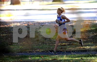 10/12/2017 Mike Orazzi | Staff Bristol Eastern's Avery Braccia during the city cross country meet Thursday afternoon in Rockwell Park.