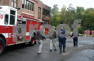 "10/14/2017 Contributed photos The scene of a large blaze at the old O'Connell elementary school, police said. The fire was called in at 1:08 a.m. by several people, police said. Firefighters arrived to find a ""large scale"" working fire that heavily damaged the building and some building materials, police said. No injuries were reported.  The cause of the fire is under ""active investigation,"" according to police who declined to give out further details.  Council members voted to sell the old elementary school at 120 Park St. for redevelopment in 2015. The school has not been used since 2012. The plan was to turn the old school into 49 units of housing which was supposed to be finished in spring of 2017."
