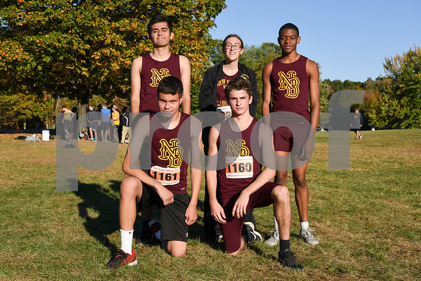 10/17/17 Wesley Bunnell | Staff CCC Conference XC Championships at Wickham Park in East Hartford. The New Britain Boys and Girls XC Team.