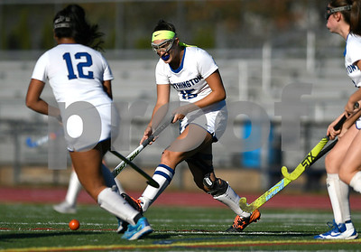 10/17/2017 Mike Orazzi | Staff Southington's Molly Dobratz (15) during field hockey with Windsor Tuesday at SHS.