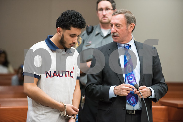 10/17/17 Wesley Bunnell | Staff Talal Qatabi of New Britain was arraigned in New Britain Superior Court on multiple charges including criminal attempt to commit murder with special circumstances.