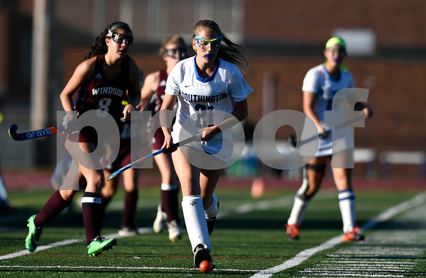10/17/2017 Mike Orazzi | Staff Southington's Autumn Swain (21) during field hockey with Windsor Tuesday at SHS.
