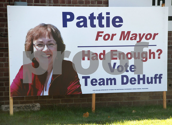 10/17/2017 Mike Orazzi | Staff An election sign for Pattie DeHuff along Route 6 in Terryville Tuesday afternoon.