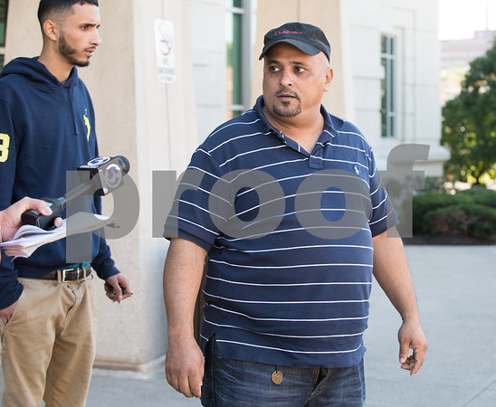 10/17/17 Wesley Bunnell | Staff A man who identified himself as the uncle of Talal Qatabi leaves New Britain Superior Court on Tuesday afternoon. Talal Qatabi of New Britain was arraigned on multiple charges including criminal attempt to commit murder with special circumstances.