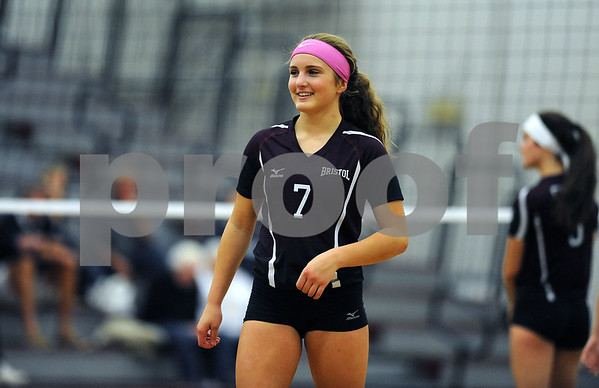 10/18/2017 Mike Orazzi | Staff Bristol Central's Peyton Greger (7) during Wednesday's volleyball match with Middletown at BC.