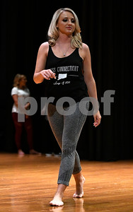 10/21/2017 Mike Orazzi | Staff Miss Forestville 2018 Contestant Victoria Lemme while rehearsing for the Miss Bristol/Forestville Pageant held at the Chippens Hill Middle School Saturday night. Lemme was selected as Miss Bristol 2018.