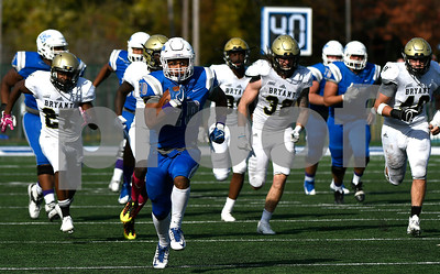 10/21/2017 Mike Orazzi | Staff CCSU's Drew Jean-Guillaume (20) during Saturday's football game at Arute Field in New Britain.