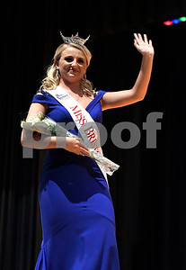 10/21/2017 Mike Orazzi | Staff Victoria Lemme after being selected as Miss Bristol during the 2018 Miss Bristol, Miss Forestville Scholarship Program at the Chippens Hill Middle School Saturday night.