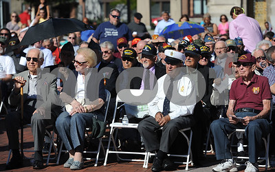10/21/2017 Mike Orazzi | Staff The medal ceremony Saturday afternoon for about 150 veterans, who either previously lived in the city, currently live in the city, enlisted in the city or belongs to a veteran organization in the city of New Britain.
