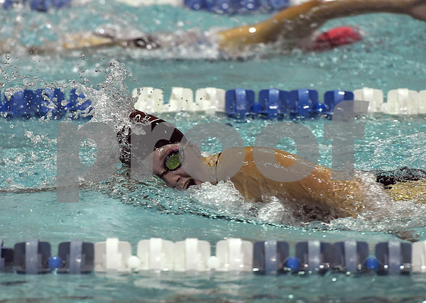 10/24/2017 Mike Orazzi | Staff Bristol Central's Rachel Wolf during Tuesday's swim meet with Eastern.