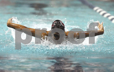 10/24/2017 Mike Orazzi | Staff Bristol Central's Mackenzie Pina during Tuesday's swim meet with Eastern.