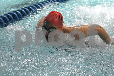 10/24/2017 Mike Orazzi | Staff Bristol Eastern's Julia Michaud during Tuesday's swim meet with Central.