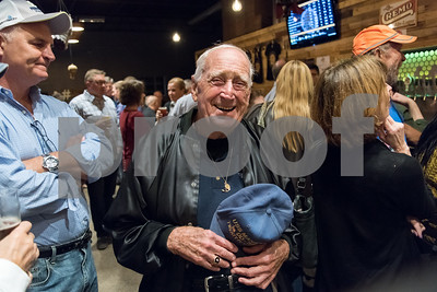 10/25/17  Wesley Bunnell | Staff  The New Britain Industrial Museum held a bier fest fundraiser at Alvarium Beer Company on Wednesday evening. New Britain resident and Industrial Museum volunteer Al Nelson.