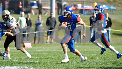 10/28/2017 Mike Orazzi   Staff St. Paul's Kevin Ashworth (10) during Saturday's football game with Woodland.