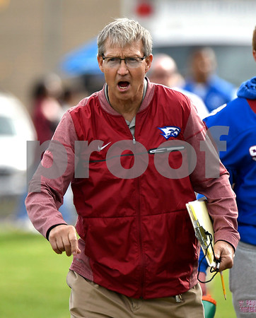 10/28/2017 Mike Orazzi | Staff St. Paul's Jude Kelly during Saturday's football game with Woodland in Bristol.