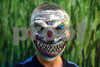 10/28/2017 Mike Orazzi | Staff Tanner Tetro,8, inside the corn maze during the 13th Annual Halloween Spooktacular at the Slade Middle School in New Britain Saturday.