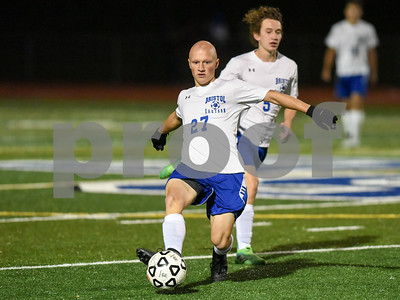 10/30/17  Wesley Bunnell | Staff  Bristol Central @ Bristol Eastern on Monday evening at Bristol Eastern High School.  Bristol Eastern's Lyle Winiarski #27.
