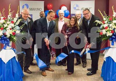 10/30/17  Wesley Bunnell   Staff  Makino, Inc. held a ribbon cutting on Monday afternoon at its new facility on Myrtle Street. Regional Manager Barry Boman, Executive Director of New Britain Downtown District Gerry Amodio, candidate for Alderman Jason Gibson, Vice President of Die Mold Andre Ey, Alderman Don Naples, Mayor Erin Stewart, Economic Development Director Bill Carroll and Consumables Sales and Operations Manager Tom Kucharski.