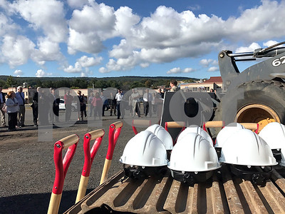10/3/2017 Mike Orazzi | Staff The ground breaking for the the access road in Centre Square in downtown Bristol Tuesday morning.