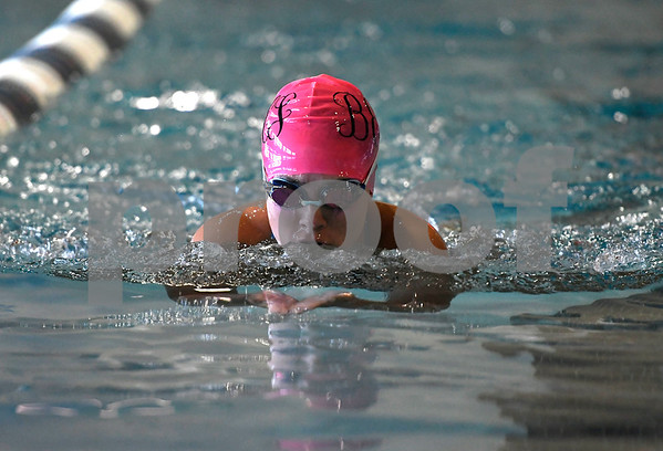 10/3/2017 Mike Orazzi | Staff Bristol Eastern's Kaylin Koh during Tuesday's swim meet with Plainville.