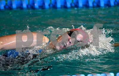 10/3/2017 Mike Orazzi | Staff Bristol Eastern's Hope Johnsky during Tuesday's swim meet with Plainville.