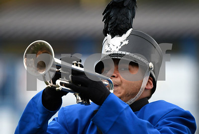 10/7/2017 Mike Orazzi | Staff The CCSU band during Saturday's football game with the Penn Quakers in New Britain.