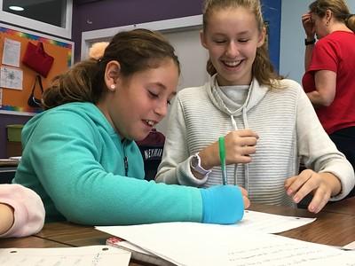 Seventh Graders Help Around School