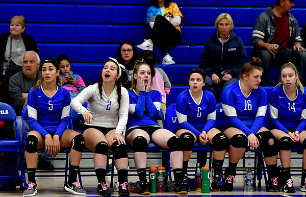 10/25/2018 Mike Orazzi | Staff Plainville during a loss to Kennedy during girls volleyball in Plainville Thursday night.