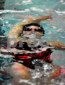 10/5/2018 Mike Orazzi | Staff Bristol Central's Camille Attle during Friday's girls swim meet with Plainville in Bristol.