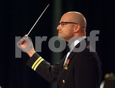 10/04/18  Wesley Bunnell | Staff  Navy Band Northeast held a Salute to Veterans concert on Oct. 4 at McGee Middle School in Berlin. Navy Band Northeast Director Lieutenant Joel Borrelli-Boudreau conducting.