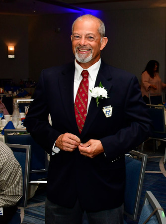 10/11/2018 Mike Orazzi | Staff Oliver Gaudreau Award recipient Charlie Soto during the Bristol Boys & Girls Clubs 34th Annual Humanitarian Dinner held at the DoubleTree Hotel Thursday evening.