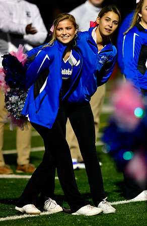 10/19/2018 Mike Orazzi | Staff Bristol Eastern High School Cheerleaders during Friday night's football game with Platt at BEHS in Bristol.
