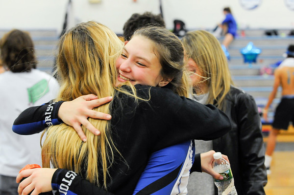 10/22/18 Wesley Bunnell | Staff Bristol Eastern defeated Bristol Central on Monday night 3-1. Gabriella Nozzolillo (17) hugs family and friends at the end of the game.