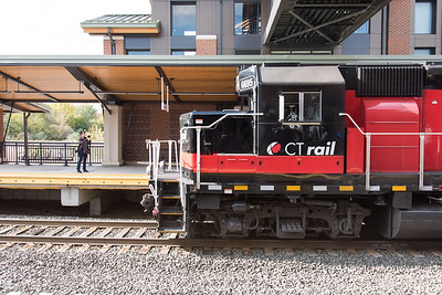 10/23/18  Wesley Bunnell | Staff  State and local officials held a ribbon cutting Tuesday afternoon officially opening the recently completed Berlin Train Station which runs on the Hartford Line. A south bound train for New Haven passes through the station.