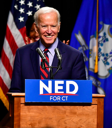 10/26/2018 Mike Orazzi   Staff Former Vice President Joe Biden while campaigning for fellow democrats in Hartford on Friday.