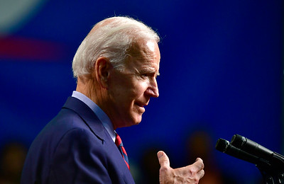 10/26/2018 Mike Orazzi | Staff  Former Vice President Joe Biden while campaigning for fellow democrats in Hartford on Friday.