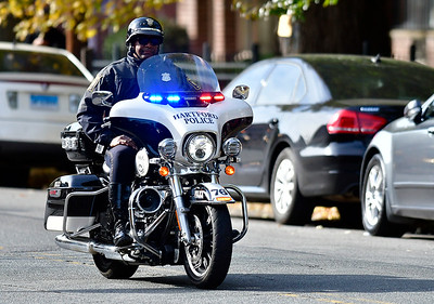 10/26/2018 Mike Orazzi | Staff  Security in place for former Vice President Joe Biden's visit to campaign for fellow democrats in Hartford on Friday.