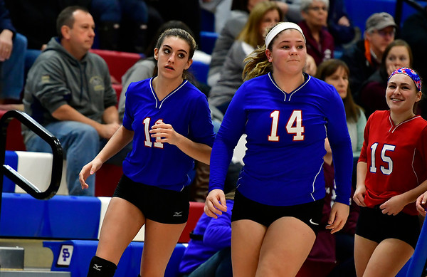 10/27/2018 Mike Orazzi | Staff St. Paul's Olivia Genovese (11) and Megan Fortier (14) in Bristol Saturday.