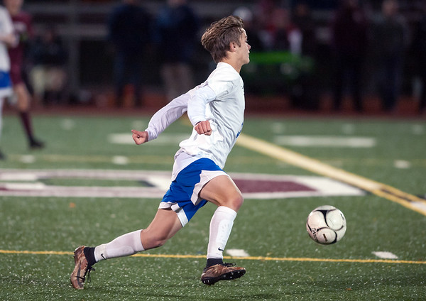 10/29/18 Wesley Bunnell | Staff Bristol Central boys soccer vs Bristol Eastern on Monday night in a game played at Bristol Central High School. Eastern's Gabriel Soucy (32).