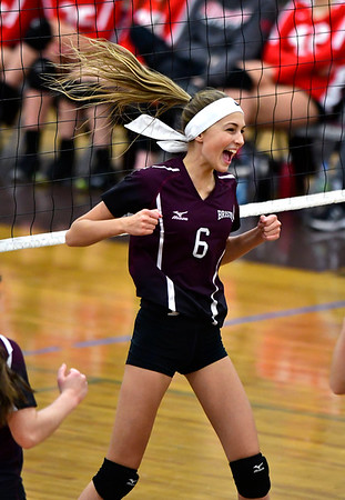 10/30/2018 Mike Orazzi | Staff Bristol Central's Emily Ericson (6) during the CCC volleyball tournament at Central on Tuesday.
