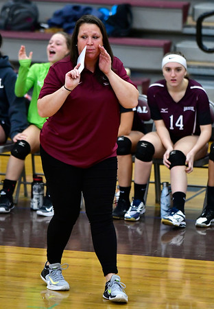 10/30/2018 Mike Orazzi | Staff Bristol Central's Holly Willette during the CCC volleyball tournament at Central on Tuesday.