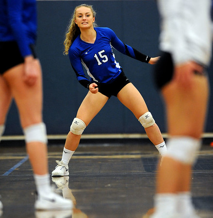 10/30/2018 Mike Orazzi | Staff Bristol Eastern's Rebecca Bender (15) during the CCC volleyball tournament at Eastern Tuesday.