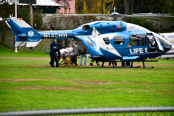 10/31/2018 Mike Orazzi | Staff At least one person suffered serious injuries during a head-on crash on Route 6 Wednesday afternoon requiring Life Star to transport one of the victims to a hospital in Hartford after several people had to be extricated from the two vehicles involved in the crash near Webster's Used Auto Parts Firefighters worked for more than half an hour getting all of the victims out of the vehicles.