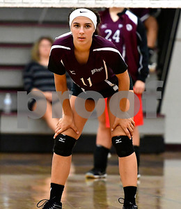 10/3/2018 Mike Orazzi | Staff Bristol Central's Gwen Toresso (11) volleyball Wednesday night.