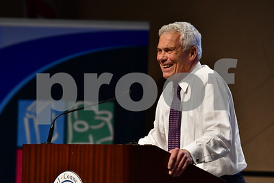 10/3/2018 Mike Orazzi | Staff Independent Connecticut Gubernatorial candidate Oz Griebel during a gubernatorial candidate forum at CCSU Wednesday evening.