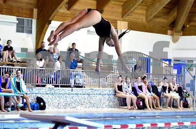 10/5/2018 Mike Orazzi | Staff Bristol Central's Erin Petke during Friday's girls swim meet with Bristol Central.