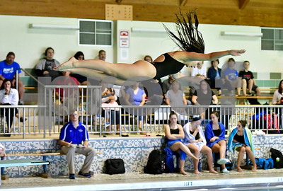10/5/2018 Mike Orazzi | Staff Bristol Central's Emma Toth during Friday's girls swim meet with Bristol Central.